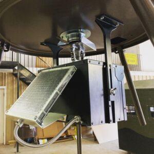 drum deer feeder with hoist timer solar panel
