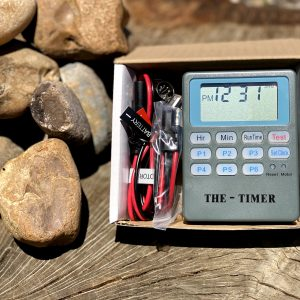 Timer control box for deer feeders